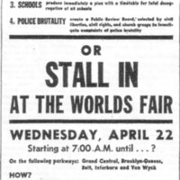 poster for World's Fair Stall-In