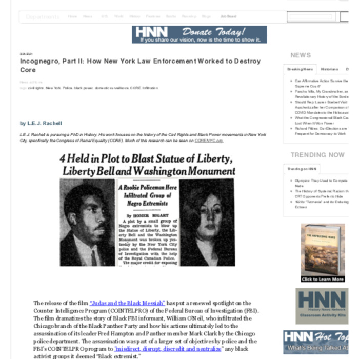 Incognegro, Part II- How New York Law Enforcement Worked to Destroy Core | History News Network.pdf
