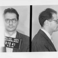 1961 arrest photo of CORE member Henry Schwarzschild as Freedom Rider