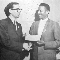 photo of Marv Rich with Rev. Fred Shuttlesworth